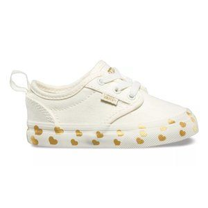 Vans Atwood Slip-on Z Gold Heart Canvas Size 8t